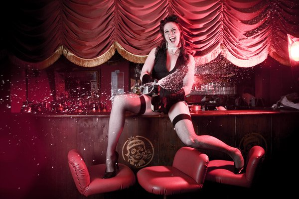 Eve Champagne Burlesque Rockstar